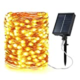Guirnaldas Luces Exterior Solar, BrizLabs 20m 200 LED Luces...