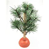 WT&WT Creative Plunger Christmas Tree,Fairly Odd Novelties Funny Toilet Humor Christmas Poop Ornaments Xmas Tree-a 9x33cm(4x13inch)