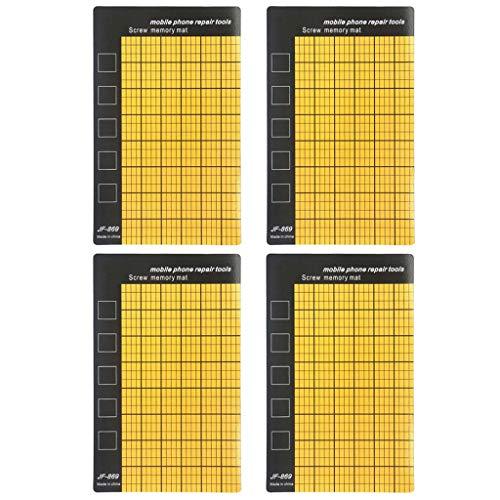 Folewr 4 unids magnética tornillo memoria Mat mini tabla de trabajo pad para teléfono móvil herramientas de reparación prevenir pequeña pérdida de electrónica