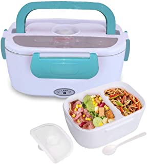 Electric Heating Lunch Box Food Storage Warmer Food Heater Portable Lunch Containers Warming Bento for Home Food Grade Material (Blue)