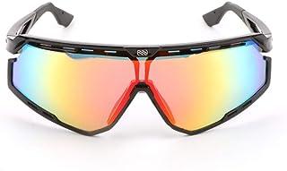 Gossttui Juego de gafas de sol rojas y negras para correr y montar (color: negro)