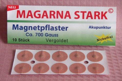 Wellness & Care Magarna Stark Magnetpflaster, vergoldet, 10 Stück