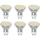 Vicloon Bombillas LED GU10, LED GU10 Lámpara 3W Equivalente a Bombillas Halógenas de 30W, 2700K Blanco Cálido GU10, 300LM, 120° Angulo de Haz, AC 220-240V, No-Regulable, Pack de 6