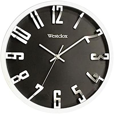 "WESTCLOX 32913 12"" Round 3D Number Wall Clock by Westclox"