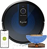 Kyvol E31 ロボット掃除機 水拭き 拭き掃除 両用 3000Pa マッピング機能 超薄型 静音 自動充電 アレクサ WiFi 落下防止 衝突防止 150分間 境界線テープ ブラック