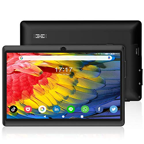 ANTEMPER 7 Pollici Tablet Android 10.0,16GB Espandibile fino a 128GB,1 GB RAM,Quad Core,WiFi,Bluetooth,1024 * 600 IPS HD Display,Doppia Fotocamera,Leggero e compatto,per Bambini e Adulti