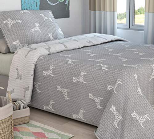Bouti Tagesdecken Kinderbett 90cm-Quilt Jacqu...