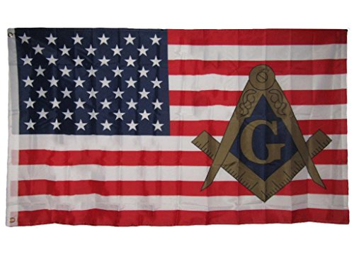 ALBATROS 3 ft x 5 ft USA American Mason Masonic Lodge Polyester Flag Banner Grommets for Home and Parades, Official Party, All Weather Indoors Outdoors