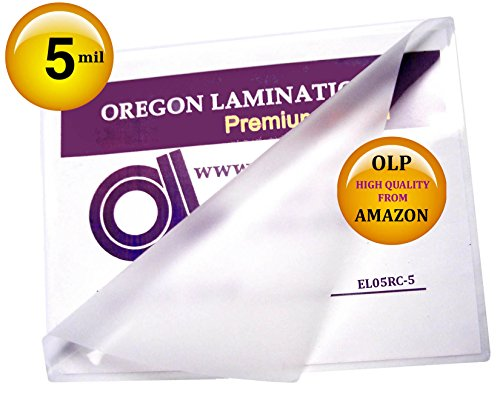 Oregon Laminations Premium Menu Size Hot Laminating Pouches 5 Mil 12 x 18 (Pack of 500) Clear