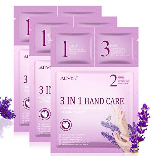 Handmasken-Behandlungskit mit Feuchtigkeitsspendenden Handschuhen, Gel für saubere Poren, Handcreme,Infundiertem Kollagen, Serum, Vitaminen, natürlichen Pflanzenextrakten, Bleaching und Anti-Aging