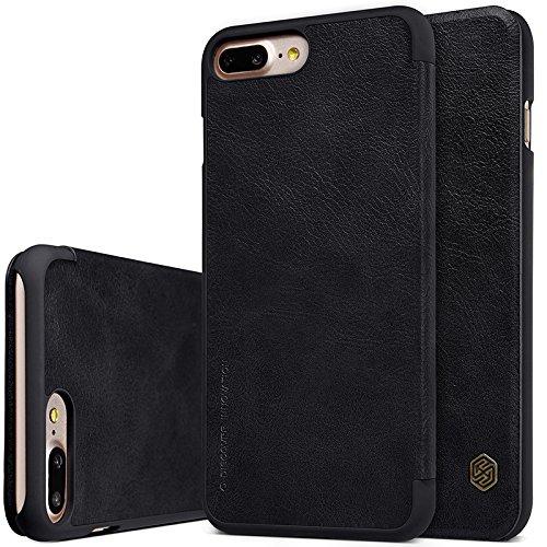 Nolkin Qin - Funda de piel sintética para iPhone 7 Plus, color negro