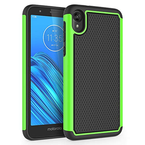 "SYONER Shockproof Protective Phone Case Cover for Motorola Moto E6 (5.5"", 2019) [Green]"