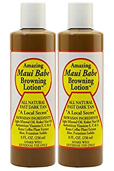 Maui Babe Tanning and Browning Lotion 8 Ounces  Pack of 2