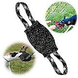 PetGens Tug Cotton para K9, mordedor Perro, con Dos Asas, K9 Dummy, Resistente y Duradero Juguetes para Perros de Entrenamiento (Negro)
