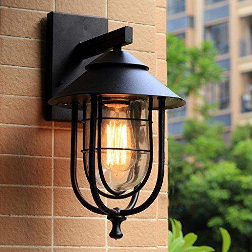 Lampe murale à l'extérieur de style européen en acier inoxydable à l'extérieur, à l'eau au café, au balcon, au restaurant, couloir, lampe murale décorative, éclairage LED créatif