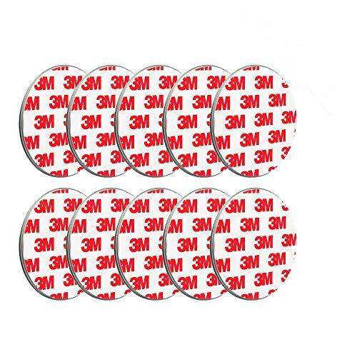 ECENCE Rauchmelder Magnethalter 10 Stück selbstklebende Magnethalterung für Rauchmelder Ø 70mm schnelle & sichere Montage ohne Bohren und Schrauben für alle Feuermelder und Rauchwarnmelder