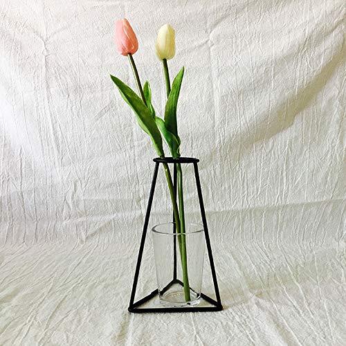 Dekoartikel Neue nordische minimalistische abstrakte Vase aus schwarzem Eisen kurze Vase Blumenst?nder Ornamente dekorieren Wohnh?user Beleuchtung Weitere Lebensmittel Getr?nke Dekoration Glasuren