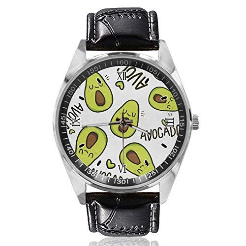 Emoji Aguacate - Reloj deportivo para mujer, diseño simple y moderno, diseño clásico