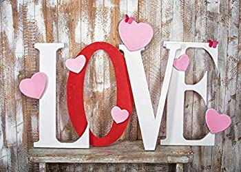 SJOLOON 7X5FT Valentine s Day Background Wood Wall Photography Backdrops Love Photo Background Baby Happy Birthday Studio Backdrop 10940