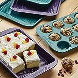 Farberware purECOok Hybrid Ceramic Nonstick 12-Cup Muffin Tin / Nonstick 12-Cup Cupcake Tin - 12 Cup, Blue