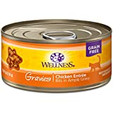 Wellness Complete Health Gravies Grain Free Canned Cat Food, Chicken Dinner, 5.5 Ounces (Pack of 12)
