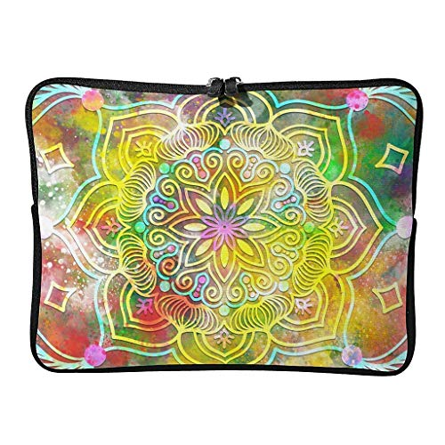 Everyday Magical Flower Laptop Bags Cute Wear-Resistant - Bohemian Laptop Bag Suitable for Professional Travel white8 12 Zoll