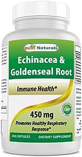 Best Naturals Echinacea Goldenseal 450 mg 250 Caps