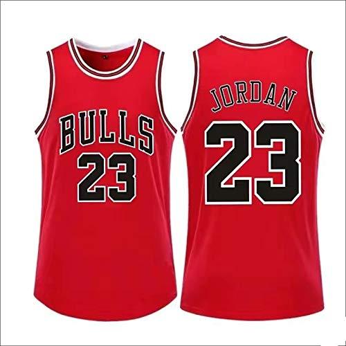 WANZON Uomo Pallacanestro Michael Jersey Basket Jordan Jersey # 23 Traspirante Outdoor Chicago T-shirt Casual Tori Per Gli Uomini - Rosso, Rosso, L