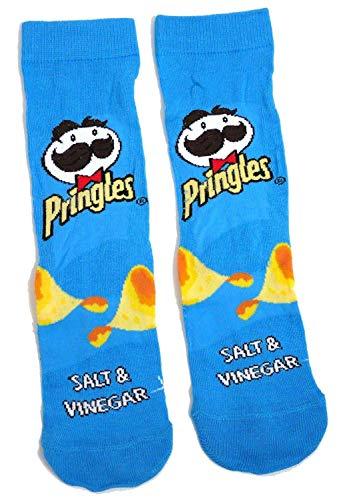 Dames Pringles Crisps Zout & Azijn Blauw Advert Sokken UK 4-8 EUR 37-42 USA 6-10