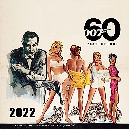 James Bond Calendar 2022 – Month to a View Family Planner 30cm x 30cm – Official Merchandise