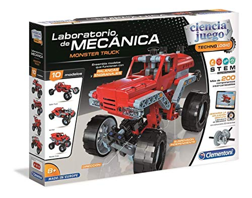 Clementoni- Laboratorio de Mecánica Juguete Monster Truck, Multicolor (55277)
