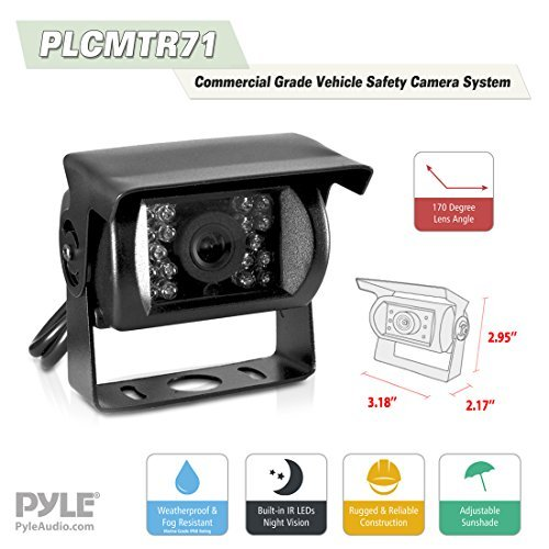 Car Backup Rear View Camera - Reverse Parking Rearview Back Up Car Camera And Monitor Video System w/ 7