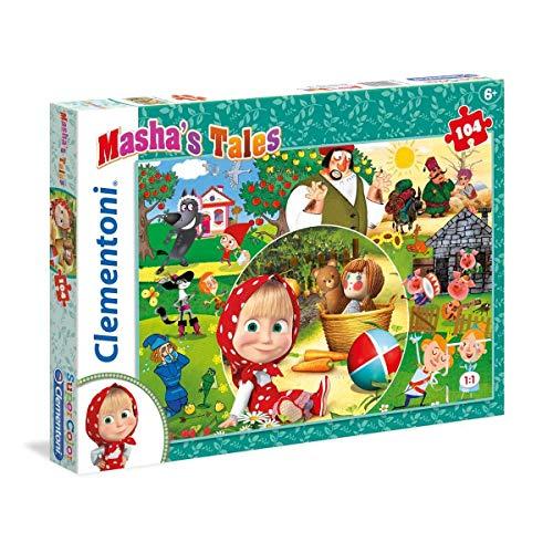 Clementoni 27069–Puzzle 104Masha' S Tales