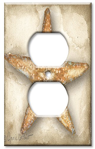 Art Plates - Outlet Cover OVERSIZE Switch Plate - Star Fish
