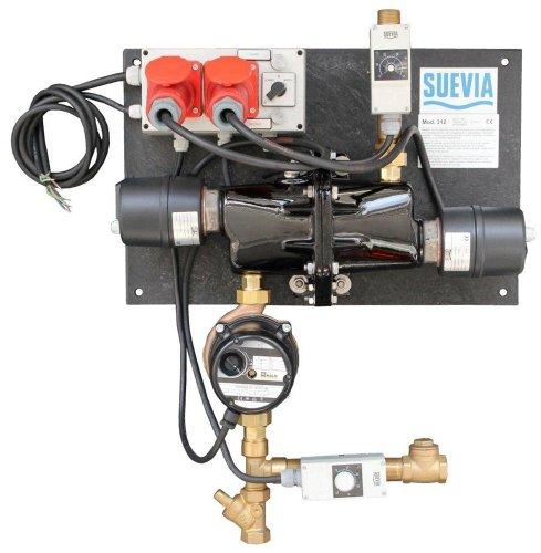 Suevia 1010312 Heizgerät SUEVIA Heizgerät Modell 312 - Heizstab 6000 Watt/400 Volt mit Thermostat un