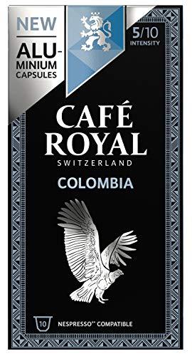 Café Royal Single Origin Colombia 100 Capsules en Aluminium Compatibles avec le Système Nespresso (R)*; Intensité: 5/10 - 50 g - (Lot de 10X10 capsules)