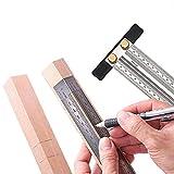 Regla tipo T, regla en T de marcado de precisión de acero inoxidable de ultra precisión, Calibre...
