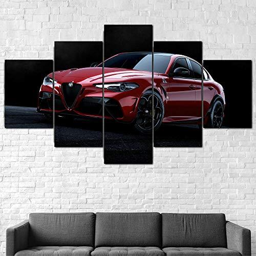 199Tdfc Imprimir sobre lienzo - Coche Alfa Romeo Giulia GTA 2020 -...