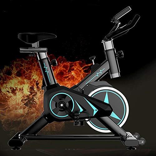 AAGYJ Vehículo de musculación, Bicicletas estáticas, Bicicleta estática de Resistencia magnética, Bicicleta de Ciclismo para Interiores con cojín de Asiento Ajustable y Volante de inercia Resistente