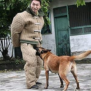 GKPLY Costume de Morsure de Chien Combinaison de Protection complète Contre Les morsures de Dressage de Chien Professionnel, Dressage de Morsure de Chien pour renforcer Les vêtements de sécurité.