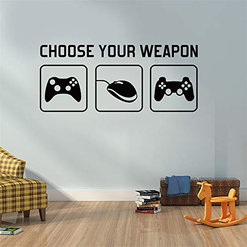 """SITAKE Gaming Accessories Adhesivos de pared para dormitorios para niños, decoración de habitaciones para niños con """"Elige tu arma"""", 85 x 35 cm (estilo 1)"""