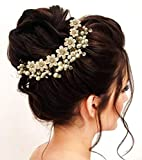 Hair Flare Hair Accessories for Women 1687 Pins Artificial Flowers Accessories (Pearl)