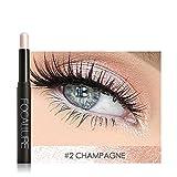 Kuuleyn Lápiz de Sombra de Ojos, 12 Colores Sombra de Ojos en Barra de Larga duración Sombra de Ojos Lápiz Maquillaje Herramienta cosmética Adecuado para Fiestas Desfile de Moda Uso Diario(#2)