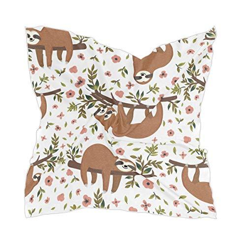 Zijden sjaal hoofdtooi luier bloem blad hoofddoek dunne chiffon sheer