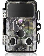 TOGUARD uppgraderad vilda djur kamera WiFi Bluetooth 20 MP 1296P jakt stigkamera med 120 ° övervakningsvinkel med rörelsefrihet aktiverad natt infraröd syn vattentät utomhus scouting spel kamera