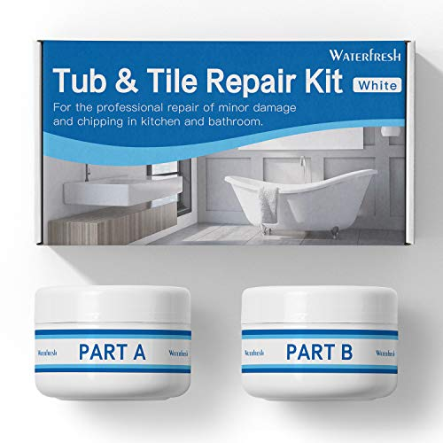 Tub, Tile and Shower Repair Kit - White | Fiberglass and Porcelain Repair | Shower & Countertop - Bathtub Refinishing Kit