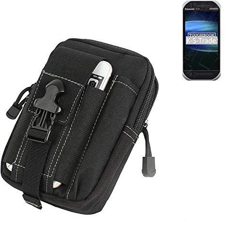 K-S-Trade® Gürtel Tasche Für Panasonic Toughbook FZ-T1 Gürteltasche Holster Schutzhülle Handy Hülle Smartphone Outdoor Handyhülle Schwarz Zusatzfächer