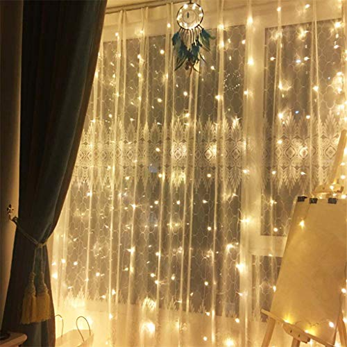 Creative Party Wedding Curtain Fairy Lights USB String Light with Remote Control, Christmas Holiday Party Decoration Blouses Tops