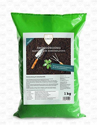 Linsor Gründüngung Humusverbesserung | 1 kg Gartenhumus | natürlicher Bodenverbesserer | aktiviert das Bodenleben