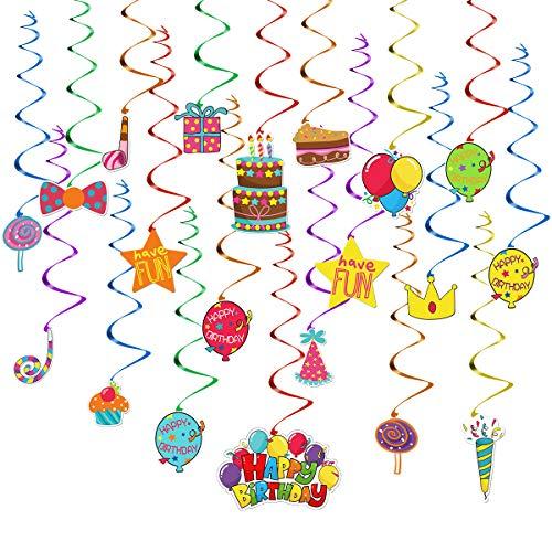 TOYMYTOY Wirbel Deko 50PCS Spirale Hängen Dekorationen Deckenhänger Girlande Spiralen Partydeko Farbenfrohe Spiral Girlanden für Geburtstag Party